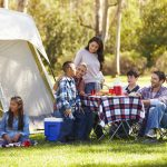 Two Families Enjoying Camping